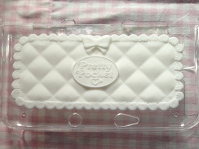 Pretty Pocket Decoration for 3DS XL in White Natural Versatile Plastic