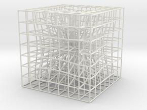 3D spacetime deformation representation in White Natural Versatile Plastic