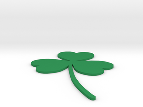 [1DAY_1CAD] 3 LEAVES CLOVER in Green Processed Versatile Plastic