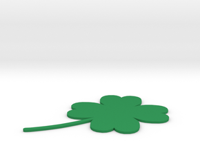 [1DAY_1CAD] 4 LEAVES CLOVER in Green Processed Versatile Plastic