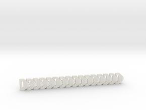 PiP Bracelet (180mm) in White Natural Versatile Plastic: Small