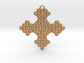PGon Cross in Polished Bronze