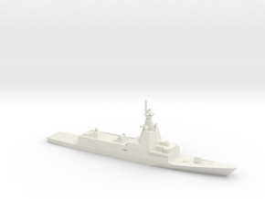 1/700 Scale Spanish Navy F-110-class frigate in White Natural Versatile Plastic