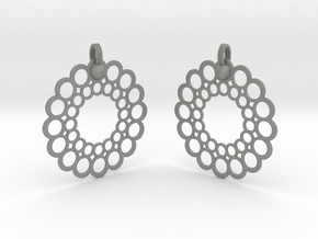 Rings Earrings in Gray PA12