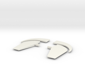 1/35 Forward Dive Plane Set for U-Boot VIIC in White Natural Versatile Plastic