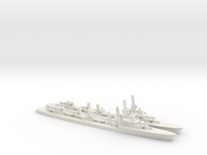 French Aigle-Class Destroyer (x2) in White Natural Versatile Plastic