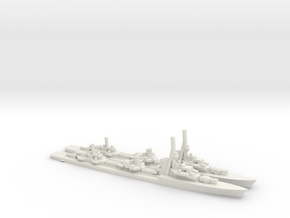 German Type1936A Destroyer (x2) in White Natural Versatile Plastic