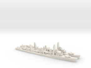 Japanese Hatsuharu-class Destroyer (x2) in White Natural Versatile Plastic