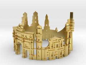 Munich Skyline - Cityscape Ring in Polished Brass: 6 / 51.5