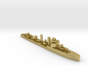 HMS Faulknor 1:2400 WW2 destroyer in Natural Brass