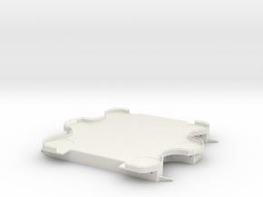 1/100 DKM Scharnhorst Funnel Deck Aft in White Natural Versatile Plastic