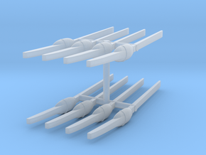 1/144 IJN Paddles (Oars) Set x8 in Smooth Fine Detail Plastic