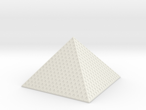 Louvre Pyramid 1/200 in White Natural Versatile Plastic