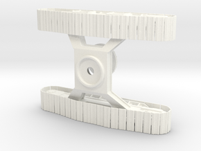 1/50th Forestry Undercarriage for Heavy Equipment in White Processed Versatile Plastic