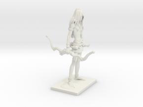 Fantasy Figures 16 - Ranger in White Natural Versatile Plastic