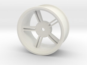 Drift Wheels 6mm offset in White Natural Versatile Plastic