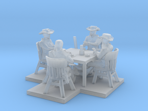 HO Scale Friendly Game  in Smooth Fine Detail Plastic