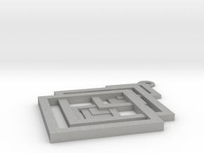Geometrical pendant no.17 in Aluminum: Small