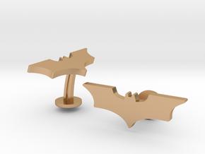 Batman Dark Knight Wedding Cufflinks in Polished Bronze