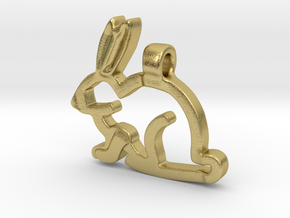 Rabbit in Natural Brass
