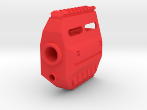 Fusion 360 Front End for Nerf Stryfe in Red Processed Versatile Plastic