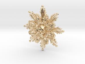 Monstrance Bone Pendant in 14k Gold Plated Brass