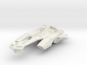 "Klingon N''Par Class AssaultCruiser 5.4"" in White Natural Versatile Plastic"