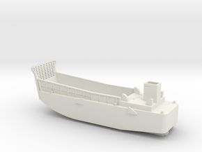 LCM3 Landing craft 1:144 scale for Big Gun Warship in White Natural Versatile Plastic