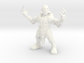 Dragon Monk in White Processed Versatile Plastic