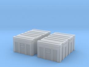 1/35 MILITARY FOOTLOCKER STORAGE BOX 2 PACK in Smooth Fine Detail Plastic