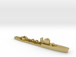 Italian Spica class WW2 torpedo boat 1:1800 in Natural Brass