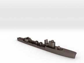 Italian Spica class WW2 torpedo boat 1:2400 in Polished Bronzed-Silver Steel