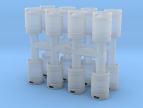 Beer Keg (16 pieces) 1/87 in Smooth Fine Detail Plastic