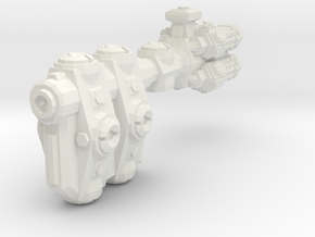 XM204 Goulonat Defence Cruiser in White Natural Versatile Plastic