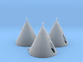 N Scale Teepee's in Smooth Fine Detail Plastic