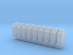 1/35 MILITARY NATO 20lt FUEL JERRY CAN 8 PACK in Smooth Fine Detail Plastic
