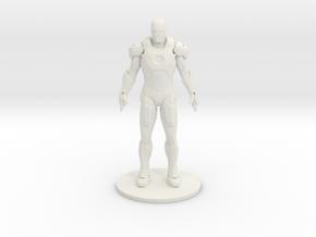 Man Of Iron in White Natural Versatile Plastic