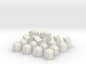 MILOSAURUS Shatranj Ancient Chess Set in White Natural Versatile Plastic