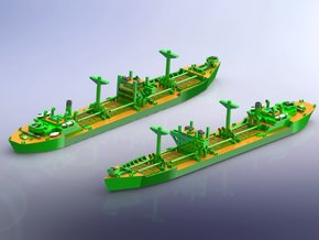 IJN Type 2A Standard Cargo Ship 1/2400 in Smoothest Fine Detail Plastic
