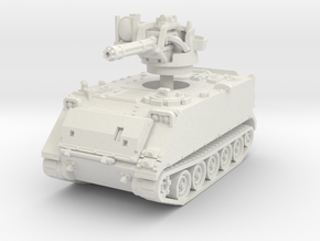 M163 A1 Vulcan late (no skirts) 1/76 in White Natural Versatile Plastic