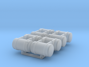 Semi Truck Fuel Tanks, Small in Smooth Fine Detail Plastic