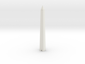 Washington Monument 1/1200 in White Natural Versatile Plastic