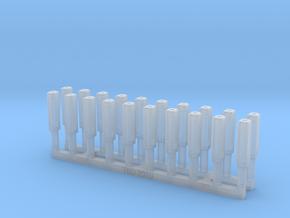 Bolt Rifle Suppressors Angular v3 x20 Warhammer in Smoothest Fine Detail Plastic