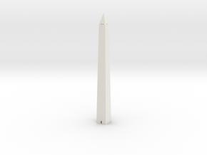 Washington Monument 1/500 in White Natural Versatile Plastic