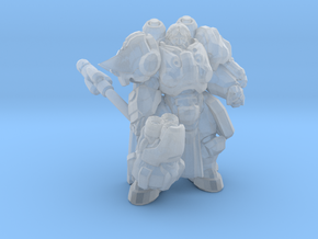 Starcraft Space Cleric 1/60 miniature for gamesRPG in Smooth Fine Detail Plastic