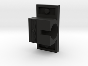 Horizontal Motor Block in Black Natural Versatile Plastic