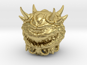 Doom Cacodemon Classic 1/60 miniature games rpg in Natural Brass