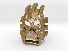 Bionicle Memes Melt Steel Beams Official Mask  in Polished Gold Steel