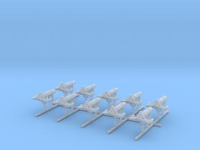 1/192 USN Paravane Set x10 in Smooth Fine Detail Plastic