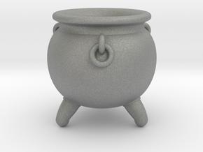 Cauldron miniature in Gray PA12